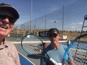 2 generationer silar luft vid Madrid Open